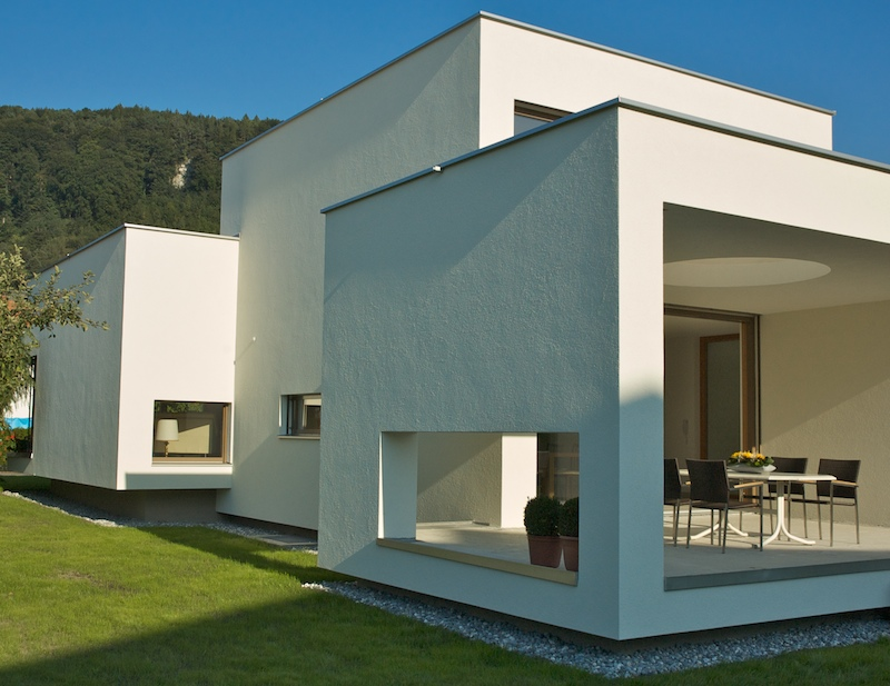 Einfamilienhaus feldkirch modern moderne architektur for Haus design moderne architektur