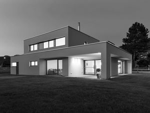 Hanghaus Einfamilienhaus Röthis Modern Massivbau Moderne