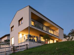 Hanghaus Einfamilienhaus Rothis Modern Massivbau Moderne